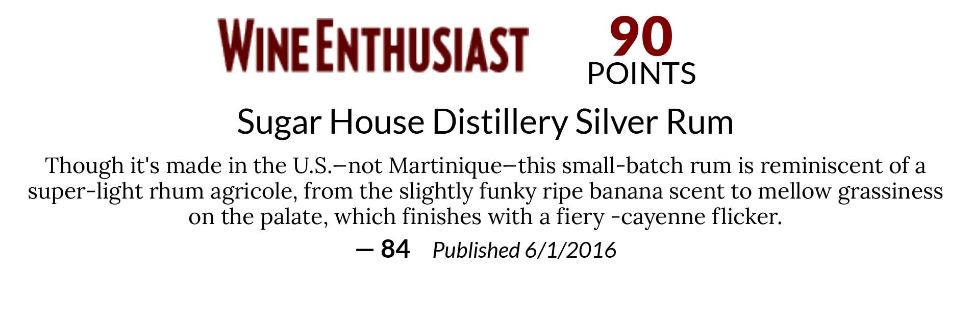 Wine Enthusiast 90pts