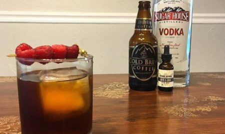 Raspberry Cold Brew Coffee Cocktail